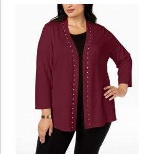 JM Collection's relaxed plus size cardigan